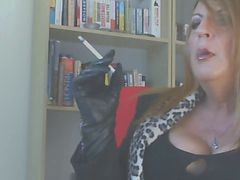 Smoking, Leather, Rubber glove