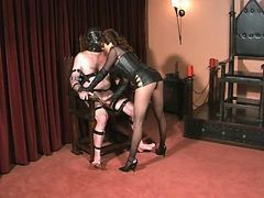 Goth, Slave, Punish with strapon