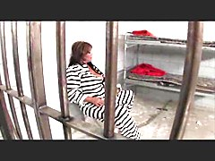 Big Tits, Jail, Crossdresser trio in jail