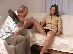 Teen, Old Man, Old man with big dick