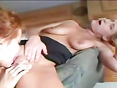 Blonde, Milf, Milf seduces girlfriend