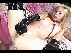 Anal, Blonde, Masturbation gloves boots