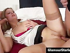 Whore, Clothed, Facial cumshots with clothes on