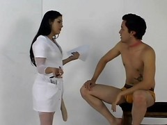 Nurse, Strapon, Femdom strapon his ass