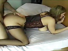 Amateur, Bus, Busty milf wake up guy
