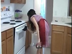 Handjob, Kitchen, Brother amp sister sex in kitchen