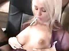 Bus, Blonde, Busty brunette toy