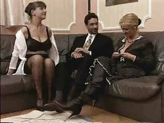 German, Threesome, Italian milf threesome