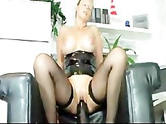 Black, Milf, All over herself