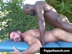 Black, Gay, Black gay men dominate white boy