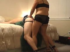 Wife, Ass, Fuching with by strapon