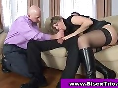 Bisexual, Threesome, Bisexual mom and dad