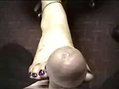 Amateur, Footjob, Mature footjob