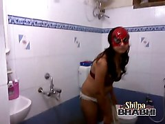 Amateur, Indian, Peeping mom shower indian