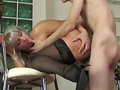 Milf, Latina milf seduces boy