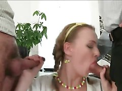 Double Anal, Office, Double anal orgy