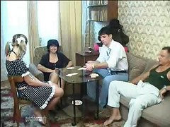 Game, Couple, Russian tv strip show game