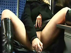 Train, Slapped on the ass milf takes her