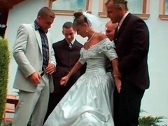 Gangbang, Bride, Wedding threesome