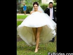Upskirt, Bride, Ass before wedding