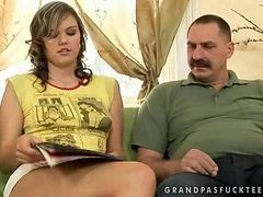 Grandpa, Teen, Grandpa fuck his young girlfriend