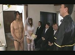 Asian, Gangbang, Japanese trainer gets erection
