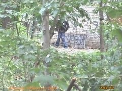 Spy, Outdoor, Gay toilet spy cam