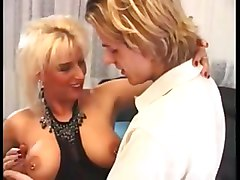 Blonde, German, Mom fucking young boy