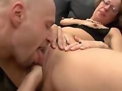 German, Milf, Sleeping gf gets banged