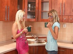 Blonde, Glasses, Seduced into a threesome