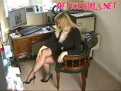Black, Stockings, Secretary flash