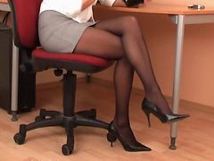 Black, Panties, Pissing secretary