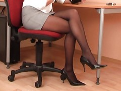Black, Panties, Secretary abuse atnthe office