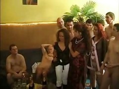 German, Orgy, Wild squirting orgy