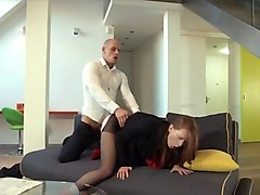 Clothed, Redhead, Clothed sex voyeur