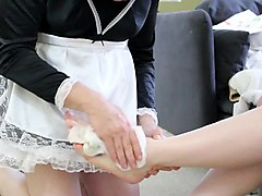 Socks, Maid, Russian teen d