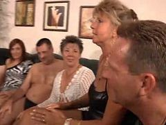Granny, Orgy, Milfs in orgy