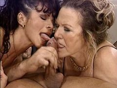 Granny, Milf, Milf and young lesbian