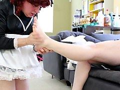 Socks, Maid, Russian teen masha takes