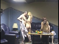 Russian, Sauna, Men cock girls masturbation