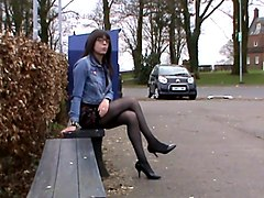 Crossdresser, Dress, Mature crossdress