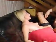Blonde, Big Cock, 1 ass and 12 big cocks