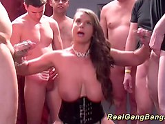 Bus, Gangbang, German milf mature