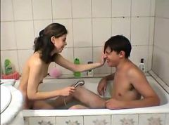 Bath, Teen, Indian girl bathing
