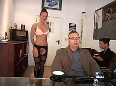German, Secretary, German milf young boy