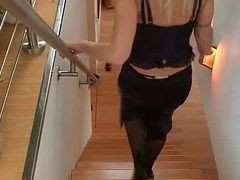 Strapon, Hot lesbian workout with strapon