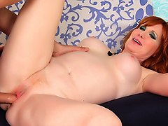 Redhead, Mature milf and young guy