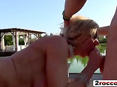 Blonde, Party, Hotel gangbang blonde milf