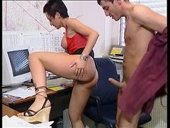 Office, Asian pantyhose office