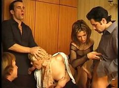 French, Orgy, Group orgy in boots